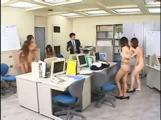 Tijd stoppen in japans kantoor video-