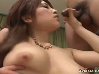 AvidolZ: Japanese babe in a hot threesome