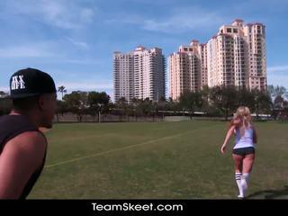 Therealworkout nešvankus blondinė addison avery pagamintas pažinčių po football mokymas