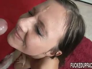 Autumn Skye brutalized by two monster cocks left drenched in hot cum