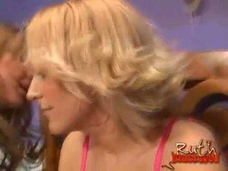 blondīnes, interracial, ffm
