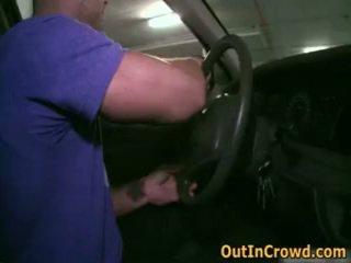 Homosexual guys shlong a chupar e a foder em público garages 2 por outincrowd
