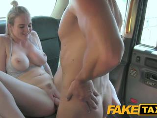 FakeTaxi Cabby has beginners luck on blonde