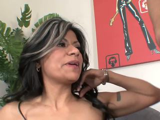 Latin Mature MILF in Stockings and Hee...