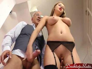 porno, ładny, nagi
