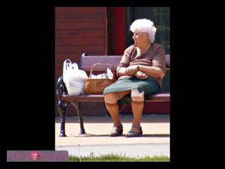 뚱보, 늙은, 할머니