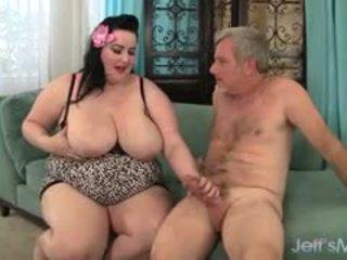 大きな美しい女性 eliza allure gets 彼女の プッシー pounded バイ a 脂肪 コック