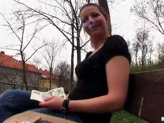 Tjekkisk jente iveta flashes og offentlig faen
