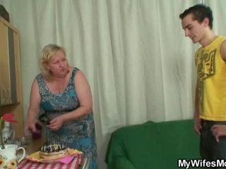 grandma scene, granny action, old young scene