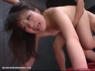 Japanese babe getting extreme bondage sex.