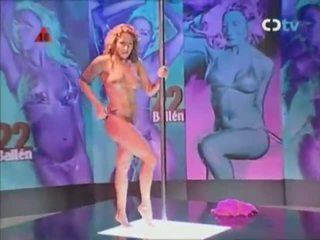 Professional Stripper On A Pole
