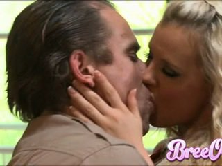 Agressive Blondie Bree Olson Stuffs Her Mouth With A Thick Shaft And Enfuns It