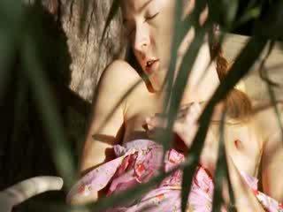 Cực sexy vườn masturbation