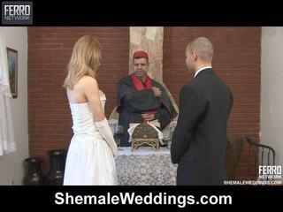 Mengen van carla, tony, alessandra door shemale weddings