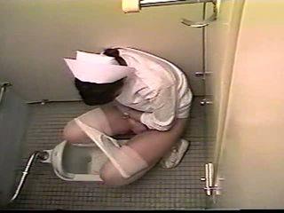 Japans verpleegster badkamer masturbation