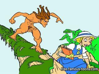 Tarzan in najstnice jane hardcore orgija