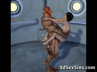 Creatures magkantot tatlong-dimensiyonal scifi babes!