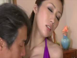 Doll big Titty oriental gets licked out by older male