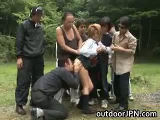 japānas, grupu sekss, interracial