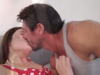 brunete, kissing, aptaustīšana