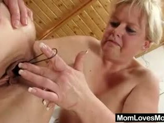 Cougar loves amateur-mom in addition to bang toys