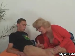 Mother-in-law takes it hard from behin...