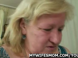 Wife comes in when her mom rides my co...
