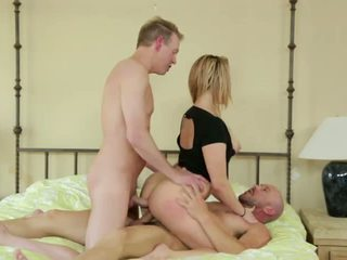 Wife Takes Two Cocks in DP as Hubby Shares Her Fuck.