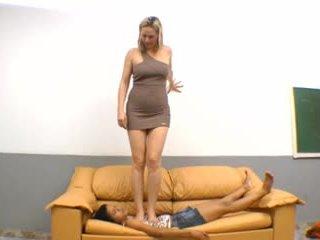 brasiliansk, fotfetisch, femdom