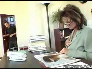 बॉस teasing employe !