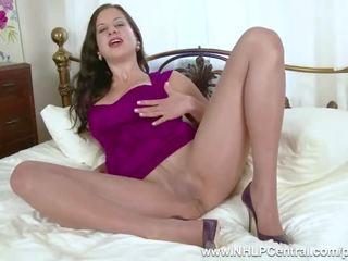 brunete, big boobs, masturbēt