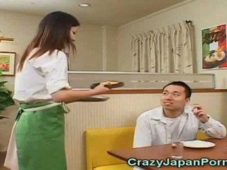 mell, fiatal, japán
