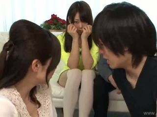 japanese, group sex, blowjob