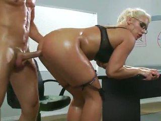 kancelář sex, sexy, první anální
