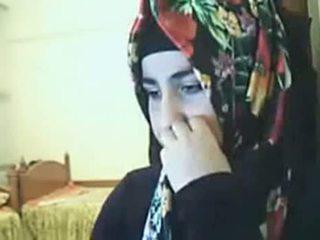 Hijab 女孩 表现 屁股 上 摄像头 arab 性别 管