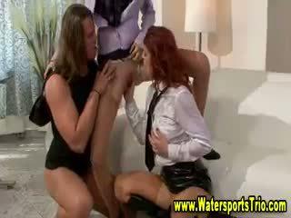 Clothed Fetish Lesbian Pissing Shower