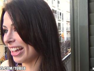 brunetă, deepthroat, slab