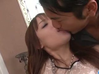Ayaka fujikita geneukt door two hunks in vies trio