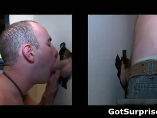 Guy gets his hard cock sucked by a gay