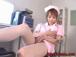 Mengagumkan asia perawat has mainan penetration