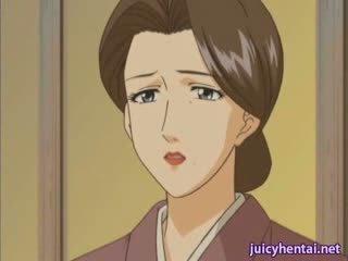 Hentai mammīte gets iedīdītas un masturbated