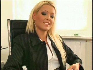 Super sexy and beautiful new lesbian secretary