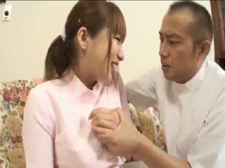 japansk, stora tuttar, asiatiska tjejer