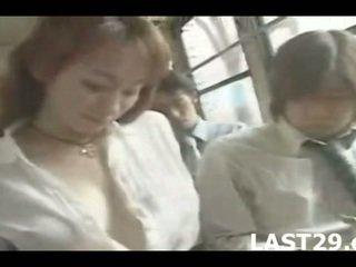 große brüste, japan, bus