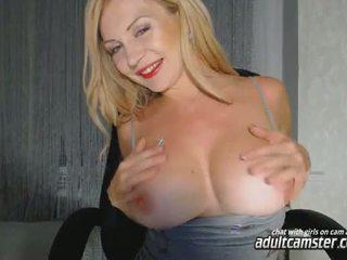 Big tit blonde milf cam girl