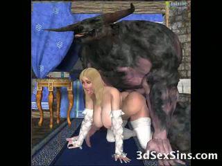 Elek creatures fuck 3d babes!