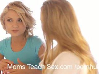 Karstās trijatā ar seksuālā māte un meita duo