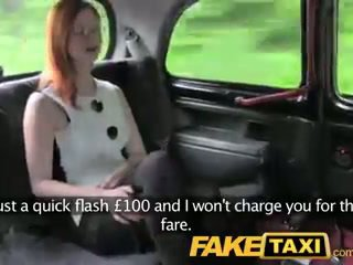 FakeTaxi Red head with big natural tit...