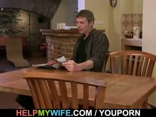 He bangs his young wife