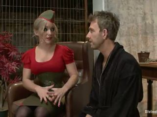 Spicy big titted blondinka dia zerva having a fellow strapon bumped in tied vid